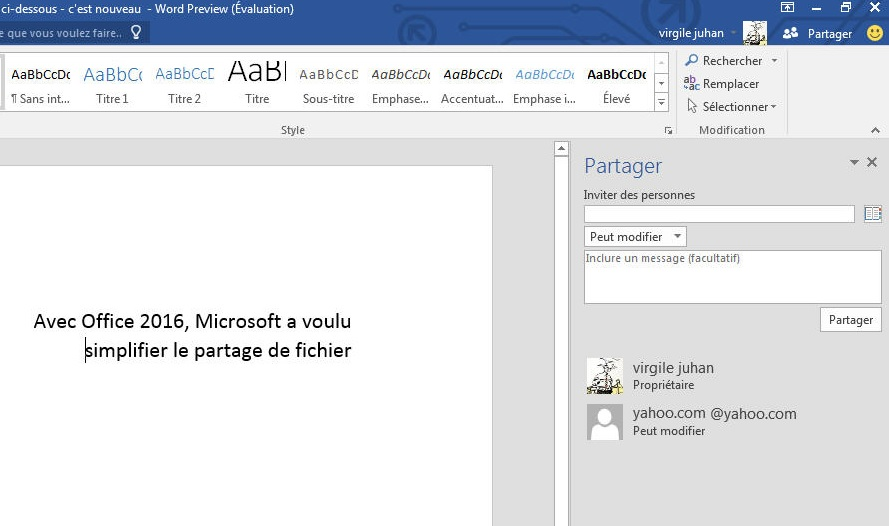 MS Office - fichiers modifiables